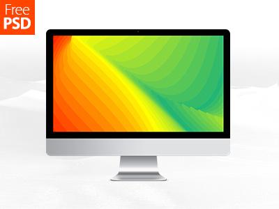 iMac Free Psd Mockup graphics psd freebie product mockup mockup computer screen desktop imac