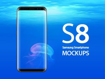 Samsung Galaxy S8 Mockups editable psd android smartphone mockups s8 galaxy samsung