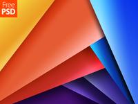 Multicolor Geometrical Design Free Psd