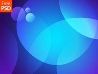 Blue Circles Background Free Psd