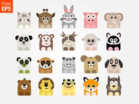 Free Vector Animal Icons
