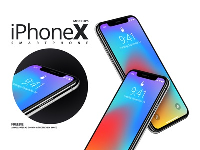 iphoneX Smartphone Mockups
