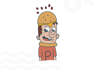 Magic Burger Boy cartoon character art pizza burgers burger king burger menu boy scout magic burger boy team picsart app website hackathon illustration design logo