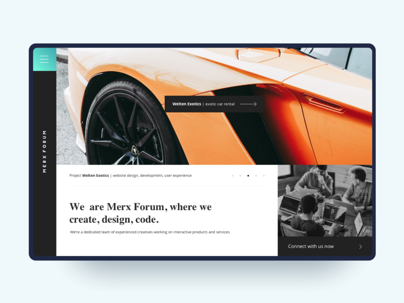 Merx Forum - Website Design simple contact us our works agency development team work lambo lamborghini super interaction black flat debuts website ux web design app ui