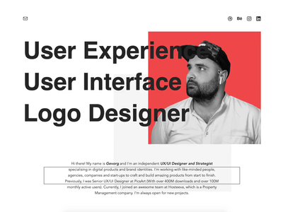My Portfolio Website lowprofile job personal branding interaction logo design app we design white flat simple portfolio website debuts ux web design app ui
