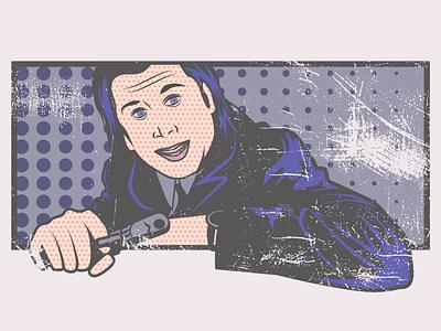 Vincent Vega - Pulp Fiction - Retro Pop Art pulp fiction retro vincent vega john travolta quentin tarantino pulpfiction pop art popart oldschool old fashioned illustrator illustration comic art artwork art adobe illustrator