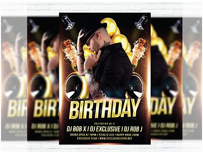 Birthday party's flyer birthday flyer party flayer