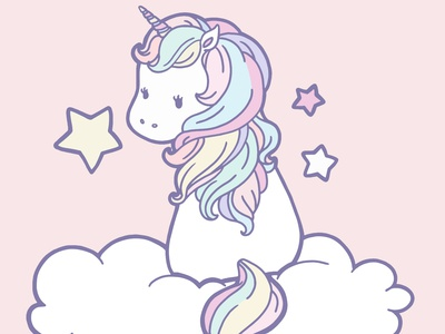 Unicorn 1 animal cute kawaii character design character linework procreate vector fantasy art unicorn flat illustration fantasy drawing illustration design digital painting digital illustration digital anime art anime