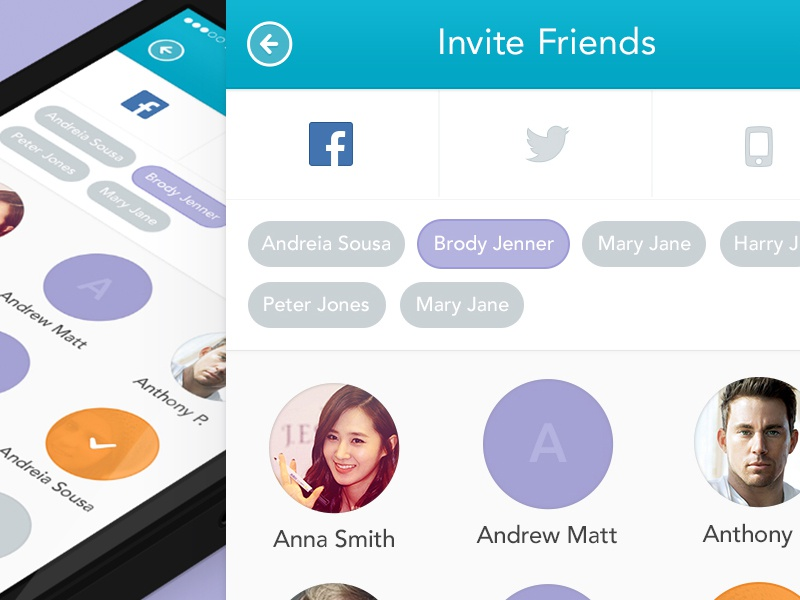 Invite friends iphone app by dani alves dribbble stopboris Choice Image