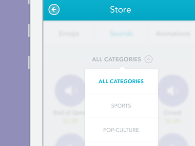 Store popover  ux ios7 mobile iphone app chat store categories ui design ios 7