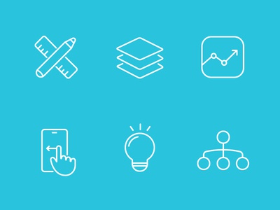 Skills icon set freelancer architecture icon set ui design interaction analysis idea information phone gesture
