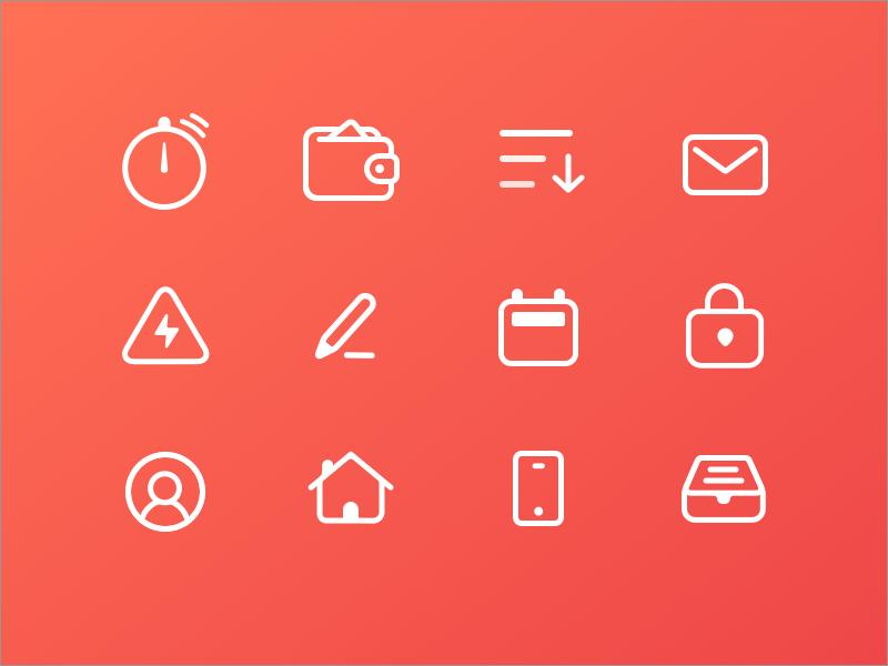 Dribbble zapp icons