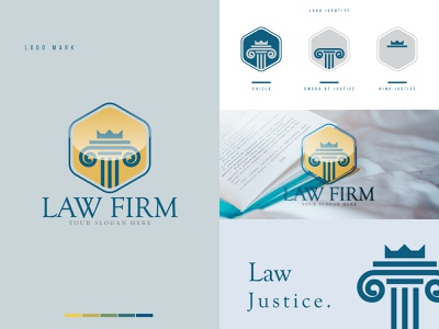 Law Firm logo - Justice Law logo - Legal Law logo - Law logo brand law firm logo icon creative logo design logo designer logo design logotype logos logo modern logo abstract logo minimalist logo minimal lawyer logo legal office lawyer law logo justice law firm