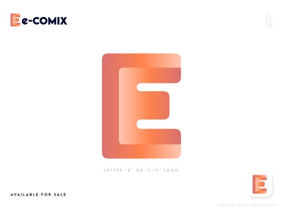 Initial Letter E Logo - Modern E Logo Mark - E Logo - Abstract E e mark e logo mark logotype logo design modern logo design logo designer logo icon gradient logo gradient abstract abstract e logo modern e logo e logo design e letter logo e letter e logo creative logo abstract logo modern logo
