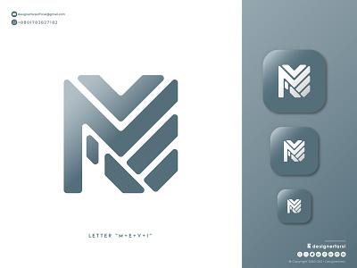 Letter M+E+V+I Logo - Modern Geometric logo - Monogram Logo logo maker minimalist logo minimal business logo monogram brand geometric letter graphic design branding ui illustration design logotype logo icon typography creative logo abstract logo modern logo