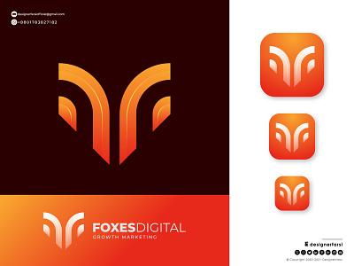 Modern Fox Icon - Fox Logo Design company logo brand minimalist logo fox logo fox vector fox icon fox branding 3d graphic design ui illustration design logotype logo icon typography creative logo abstract logo modern logo