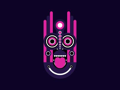 Tiki Mask shapes illustrator art art pink purple totem totem pole luau hawaiian geometric art african ritual geometric illustration traditional ceremonial zulu tribal spiritual tiki mask tiki