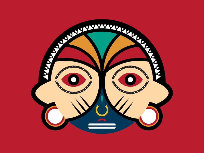 Round Tribal Mask