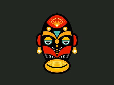 Rasta Mask tattoo art designbyhumans tshirt tshirt design creative hawaiian ceremonial aztec zulu geometric traditional spiritual abstract culture art traditional art colourful tribal african mask rasta mask