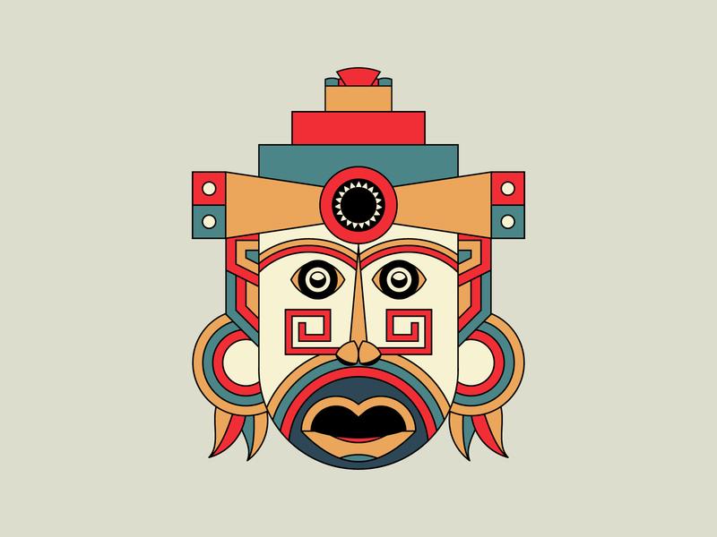 Aztec Mayan Mask