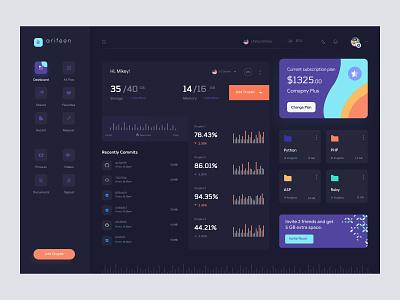 Server Management Dashboard UI Concept web app dark ui dashboard dark mode interaction interface dark theme