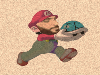 mario montage web logo design photo montage illustration