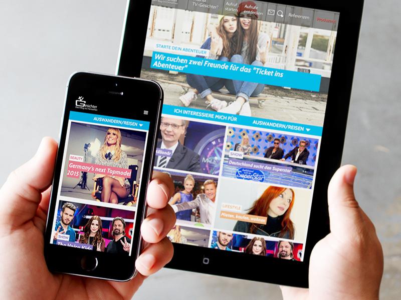 TV-Gesichter Website design web design mobile website grid login interface responsive