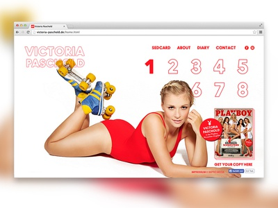 Webdesign Playmate Victoria Paschold webdesign gallery art direction photography web design design
