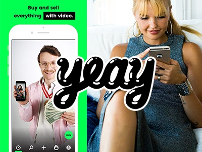 YEAY – Sell it with Video | UX Branding Webdesign ux ui iphone ios interface design concept shopping e-commerc app appdesign