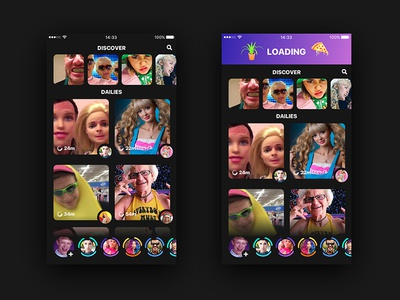 Fun UI challenge of an user-generated video-driven app
