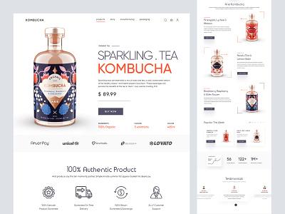 Shopify website landing page for Sparkling Tea shopify shopify store store ui store ecommerce woocommerce design