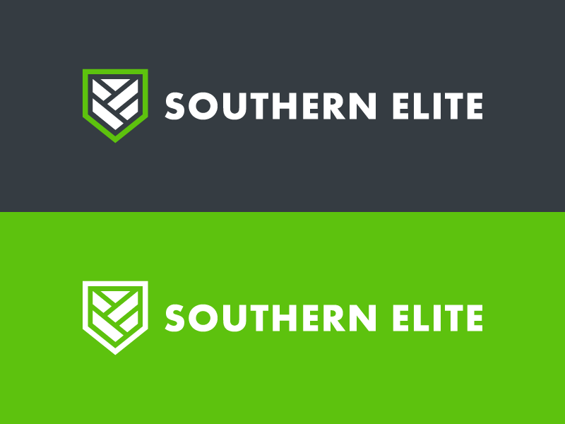 Southern Elite branding icon identity letter line logo logomark mark protection shield