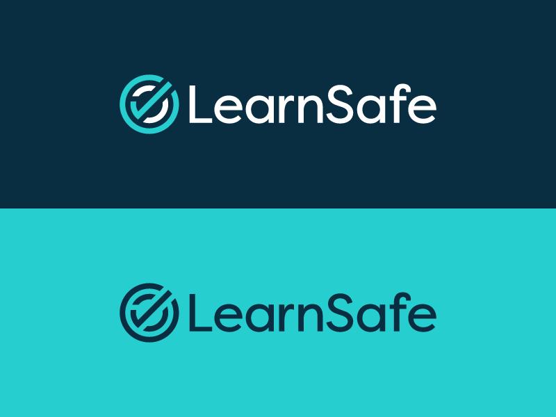 LearnSafe Unused check checkmark s protection mark logomark logo line letter identity icon branding
