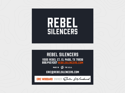 Rebel Silencers Business Cards business cards texas silencer mark logo gun stationery design print identity branding
