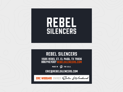 Rebel Silencers Business Cards