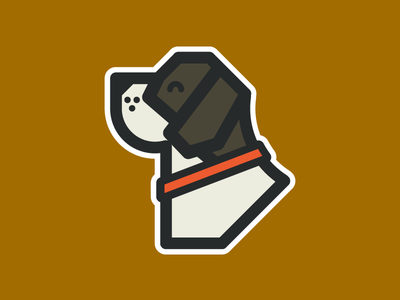 Doggo doggo hound puppy dog nature mark logo identity icon branding abstract