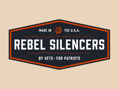 Rebel Silencers Badge texas silencer shape round mark logo identity icon gun bullet branding badge