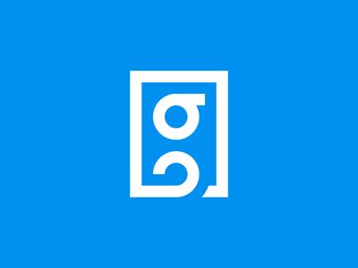G user square type round mark logomark logo line letter identity icon g branding