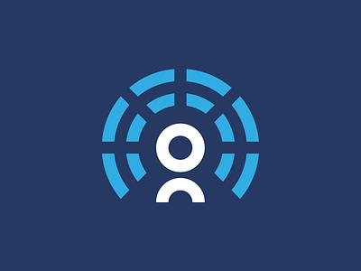 Eugenius radiate person round mark logomark logo line user identity icon branding