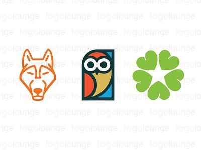 LogoLounge Book 10 wolf heart owl icon lounge logos logolounge logo branding book10 award