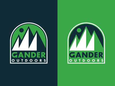 Gander Outdoors gander outdoors gander moon outdoors mountain badge icons iconography icon identity branding logo