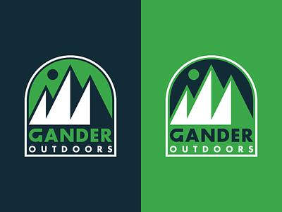Gander Outdoors gander outdoors gander moon outdoors mountain badge icons iconography icon identity branding logo