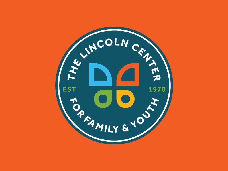 The Lincoln Center Badge badge logo branding identity icon iconography icons butterfly wing insect geometric shape