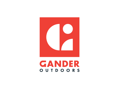 Gander Outdoors outdoors northface typography type identity logomark mark branding logo icon g letter