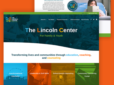 The Lincoln Center Website web design website web uxdesign uidesign ui page landing homepage site