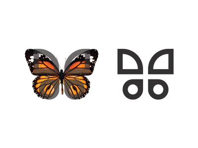 Butterfly symbol simple butterfly logo line animal