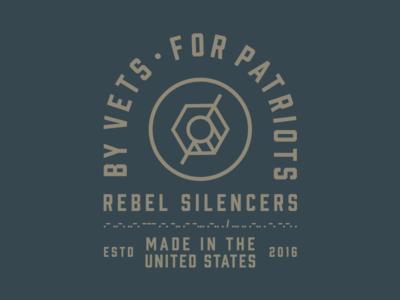 Rebel Silencers Shirts texas silencer shape round mark logo identity icon gun bullet branding badge
