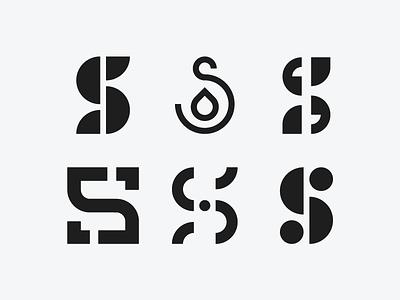 S Marks typography type s mark logomark logo letter identity branding