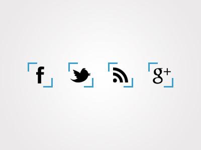 Social Icons icons facebook twitter rss google gplus google plus social blue
