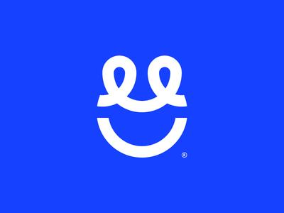INTMGR connected happy smiley face smile illustration iconography mark birmingham alabama identity icon branding logo